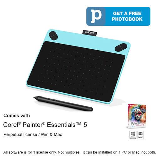 Wacom Intuos Art Pen & Touch Small - Blue CTH-490/B0-CX แถมฟรี หัวปากกาสำรองเพิ่ม 1 ชุด (5หัว)
