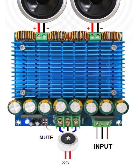 TDA8954TH 840 วัตต์ ( RMS) ภาคขยายเสียงระบบ สเตอริโอ ขนาด