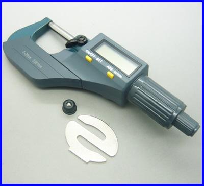 ดิจิตอลไมโครมิเตอร์ วัดขนาดดิจิตอล 0-25mm ความละเอียด 0.001mm Digital Outside Micrometer Electronic Micrometer Measuring Tool