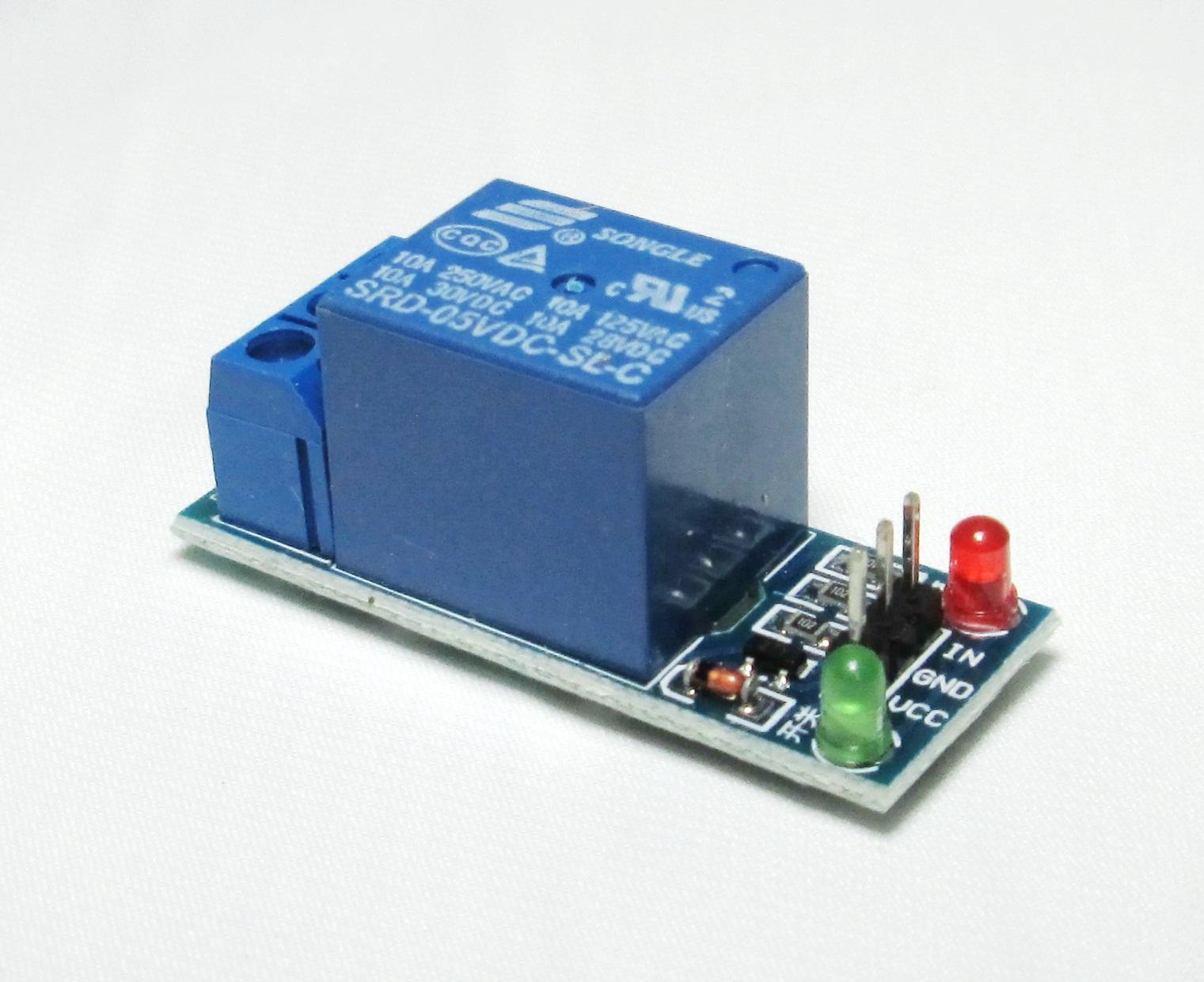 รีเลย์ 1-Channel relay 5V 1 ช่อง 250V/10A Active hight