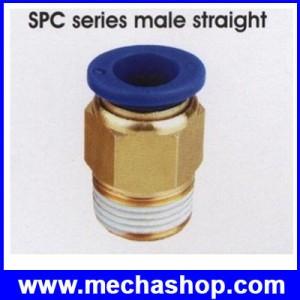 (1 ชิ้น)ยูเนียนท่อต่อลม ขั้วต่อลม ข้อต่อลม อุปกรณ์ลม SPC4-M5 SPC series male sraight Tube Straight Union Connector