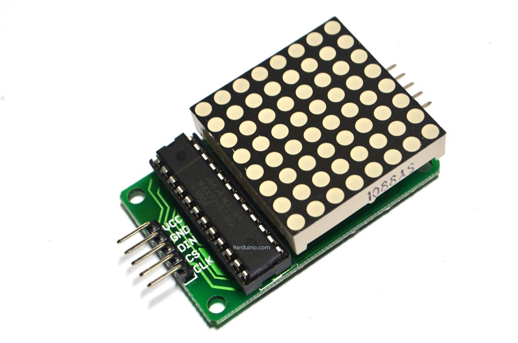 LED Matrix Driver Module + LED Dot Matrix 8x8 ขนาด 40mm x 40mm