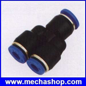 ขั้วต่อลม ข้อต่อลม อุปกรณ์ลม SPN6-4 series (PW6-4) different diameter union OD 6mm แยก 4mm x 2