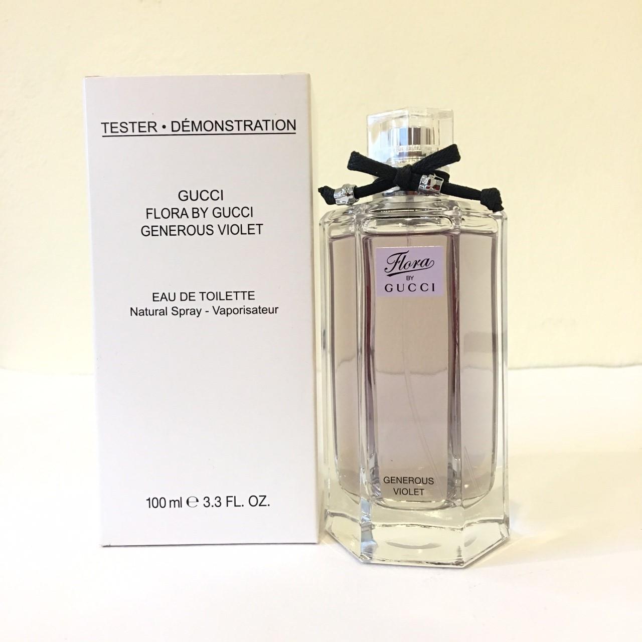 4e7e64f70bf น้ำหอม Gucci Flora By Gucci Generous Violet EDT 100ml สีม่วง กล่องขาว -  perfumesbeautymall น้ำหอมแท้ จิ๋วทดลอง แบ่งขาย น้ำหอมมือสอง กล่องเทสเตอร์  กล่องซีล ...