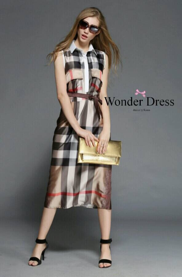 BURBERRY LONG MAXI DRESS PREMIUM QUALITY