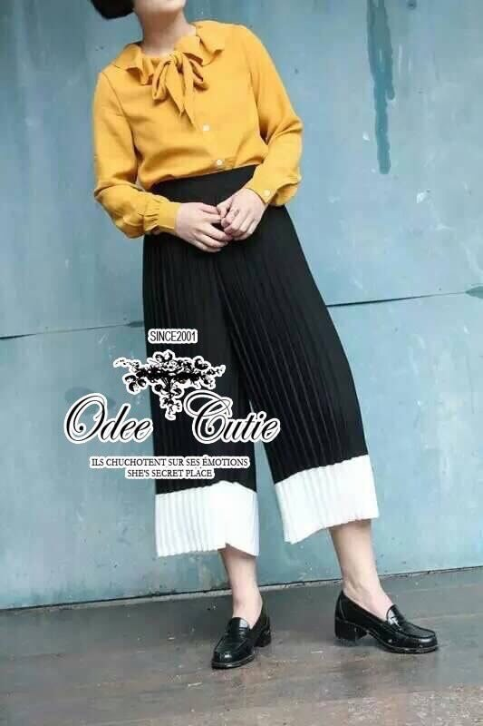 Pleated simply pants