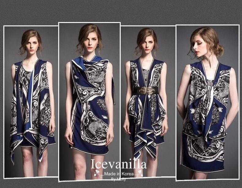 Rhythmical Retro print ops Dress