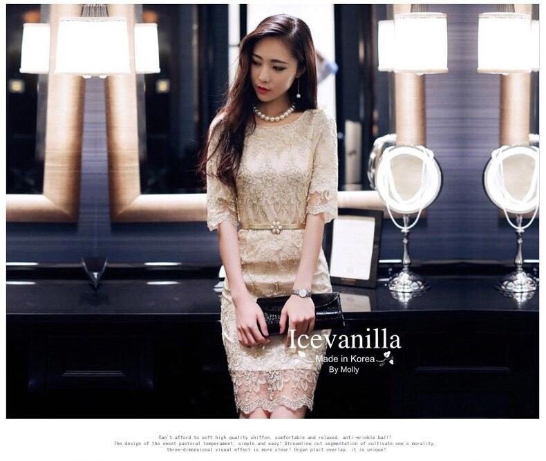 Imperial gold Lace dress