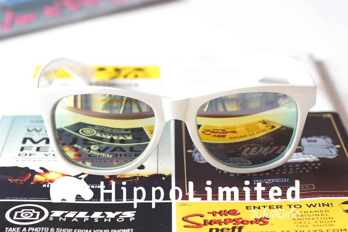 แว่น Vans Spicoli 4 Sunglasses - White / Mirror Green