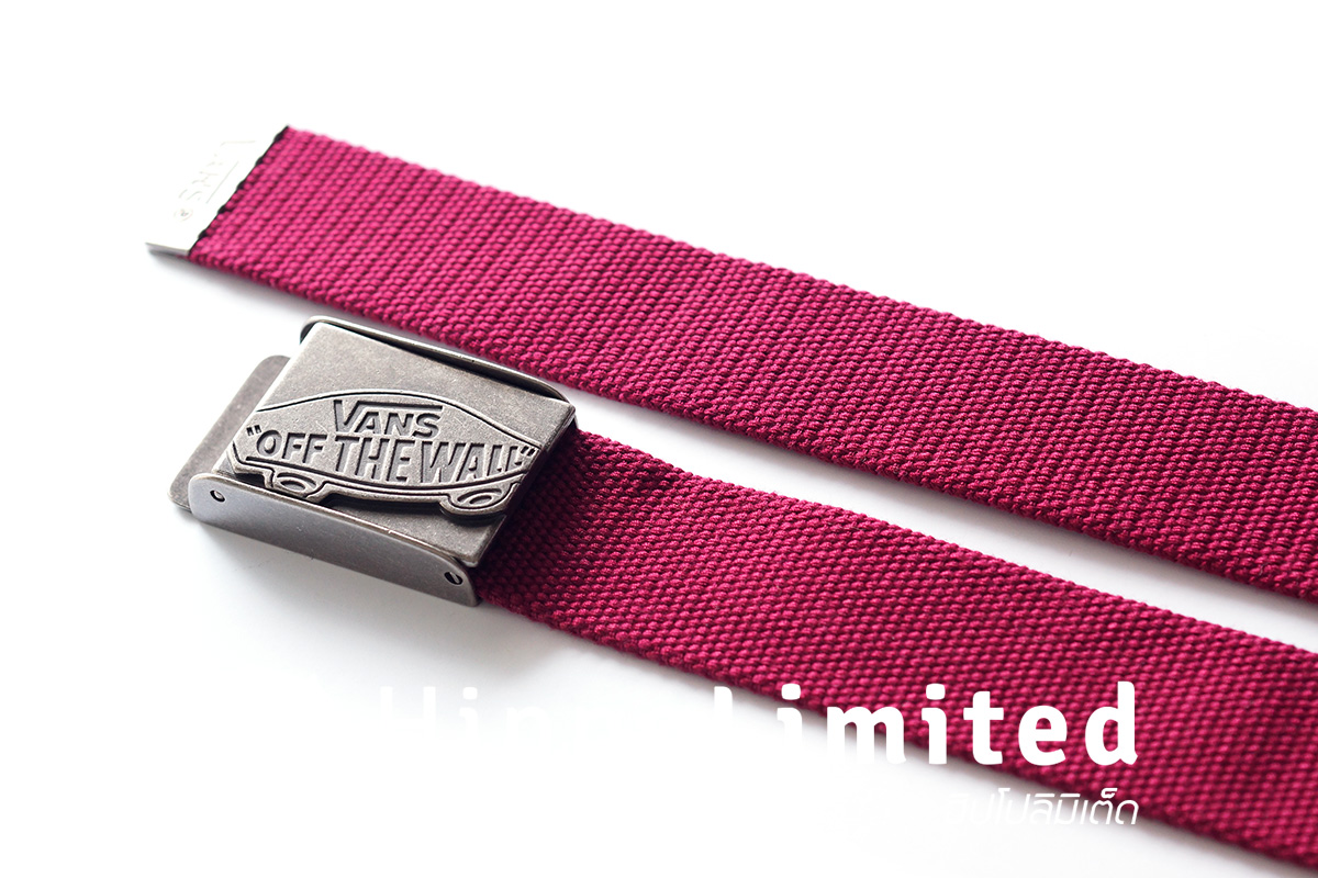 Vans Conductor Web Belt - Beet Red