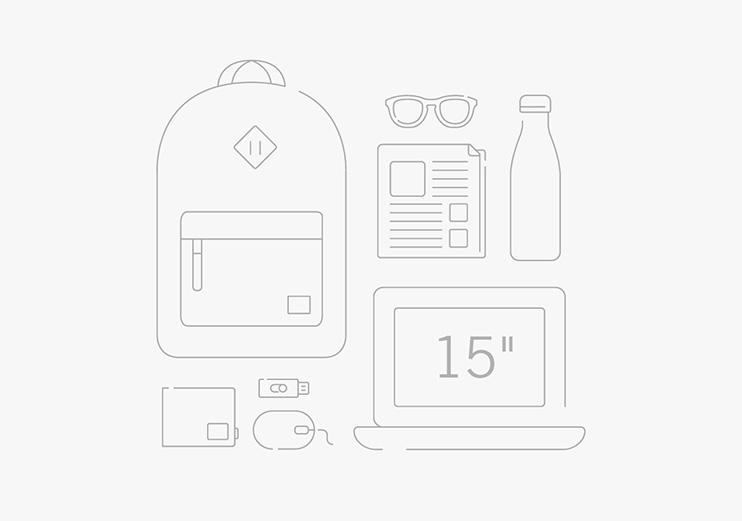 Herschel Heritage Backpack - ขนาดกระเป๋า