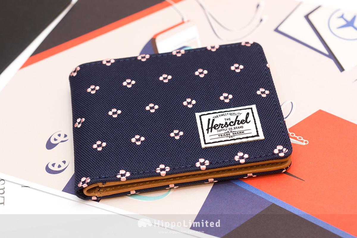 กระเป๋าสตางค์ Herschel Hank Wallet - Peacoat Embroidery ด้านหน้าเต็มใบ