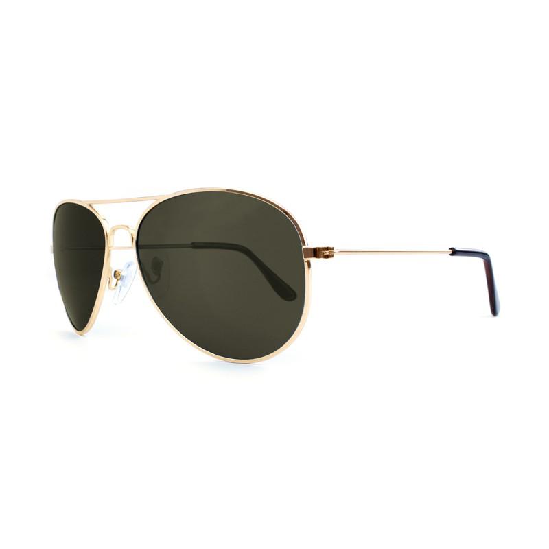Knockaround Mile Highs Sunglasses - Gold / Polarized Green