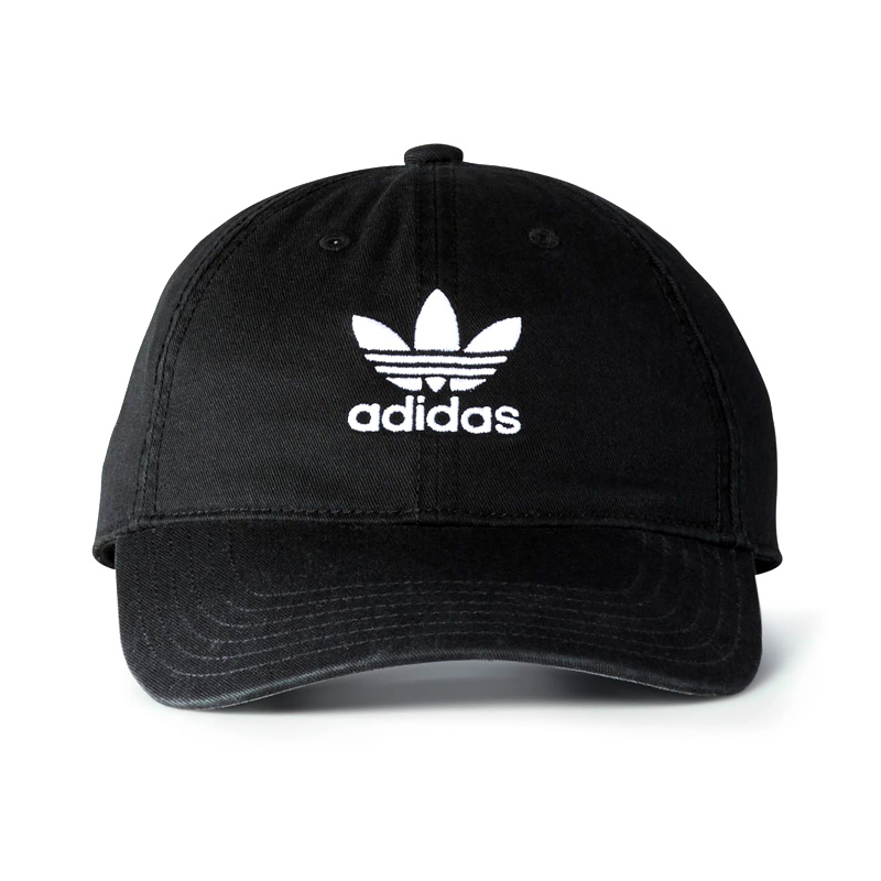 Adidas Originals Precurved Washed Strapback Hat - Black