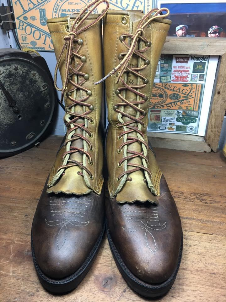 5. Chippewa packer boot made in USA size 8 E /26cm สวย สภาพเยี่ยม