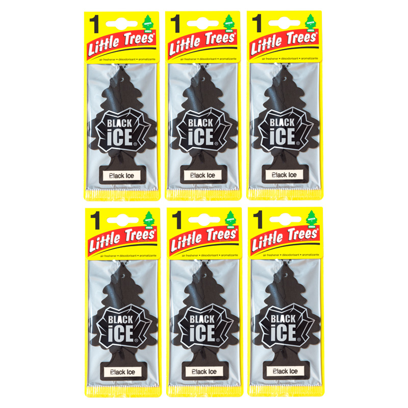 Little Trees Air Freshener - Black Ice x 6 แผ่น