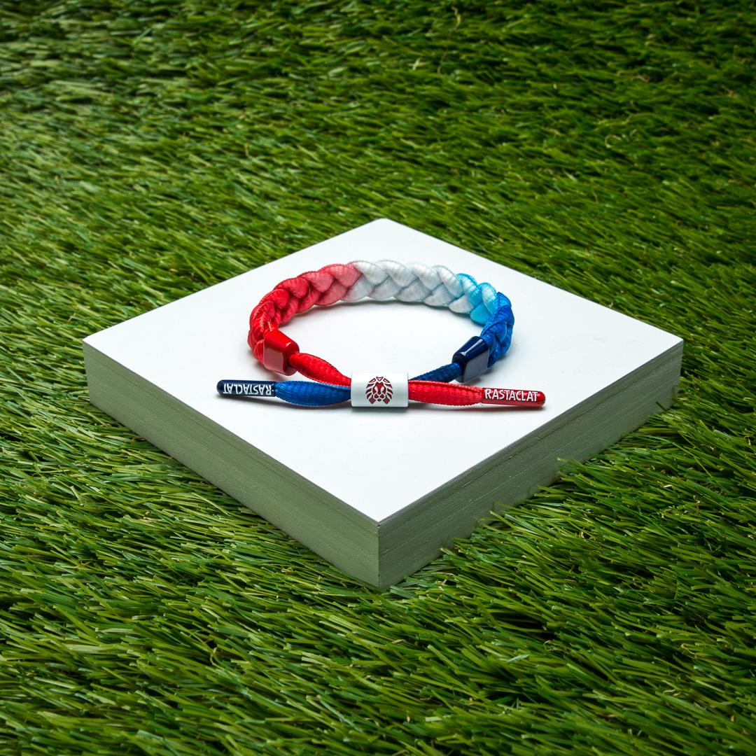 Rastaclat Glory 2.0 เชือกสีแดงขาวฟ้าไล่โทน