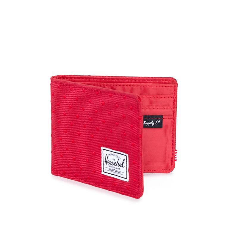 Herschel Hank Wallet - Red Embroidery Polka Dot