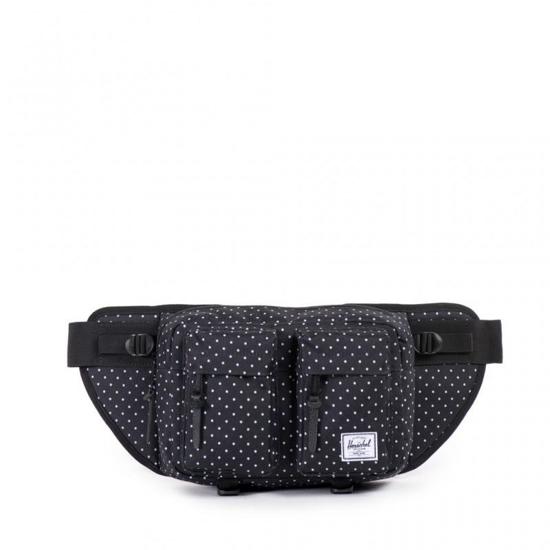 Herschel Eighteen Hip Pack - Black Polka