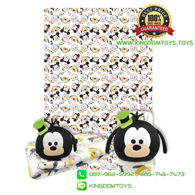 หมอนผ้าห่มม้วน กรู๊ฟฟี่ TSUM TSUM 35x60 นิ้ว [Disney]