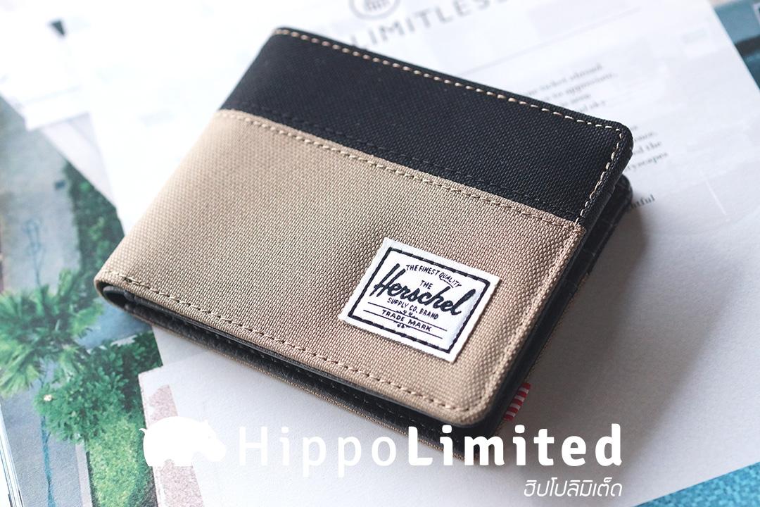 กระเป๋าสตางค์ Herschel Hank Wallet - Lead Green / Black