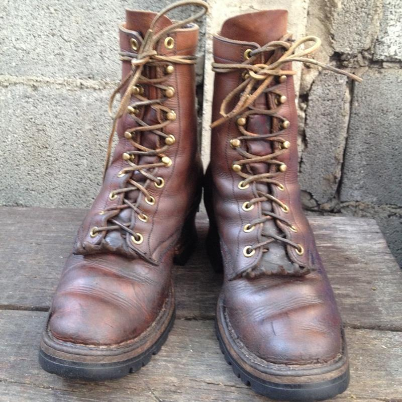 Vintage Smoke jump boot's งานเมการุ่นเก่าๆ หนักๆ size 8