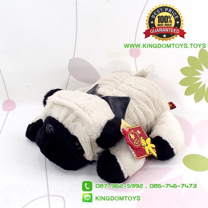 ตุ๊กตา น้องหมาปั๊ก Pug ท่าหมอบ ชุดสูท 12 นิ้ว [Anee Park]