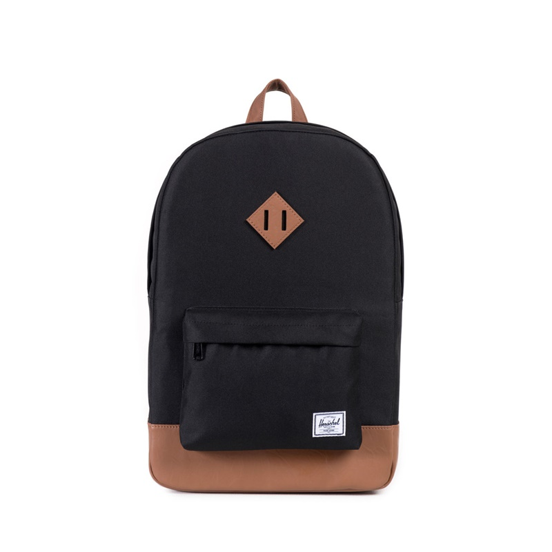 Herschel Heritage Backpack - Black/Tan Synthetic Leather