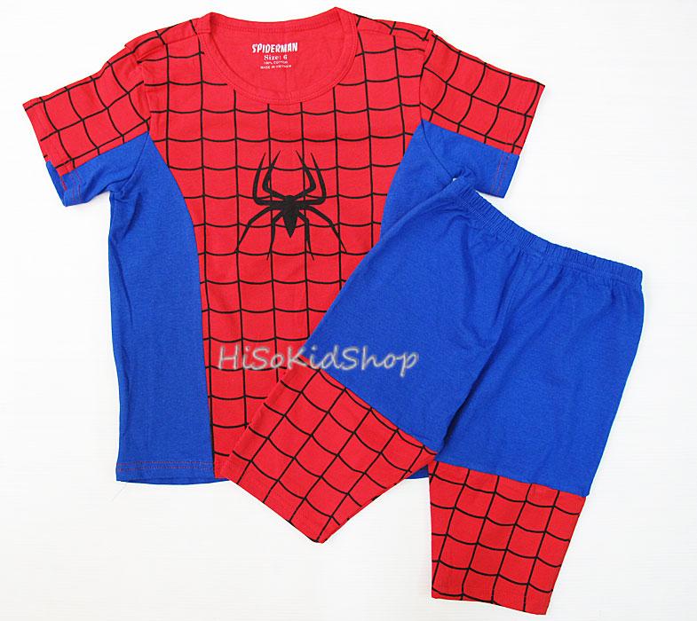 1248 Spider man set 2 ชิ้น (เสื้อ+กางเกง) ขนาด 6 ปี