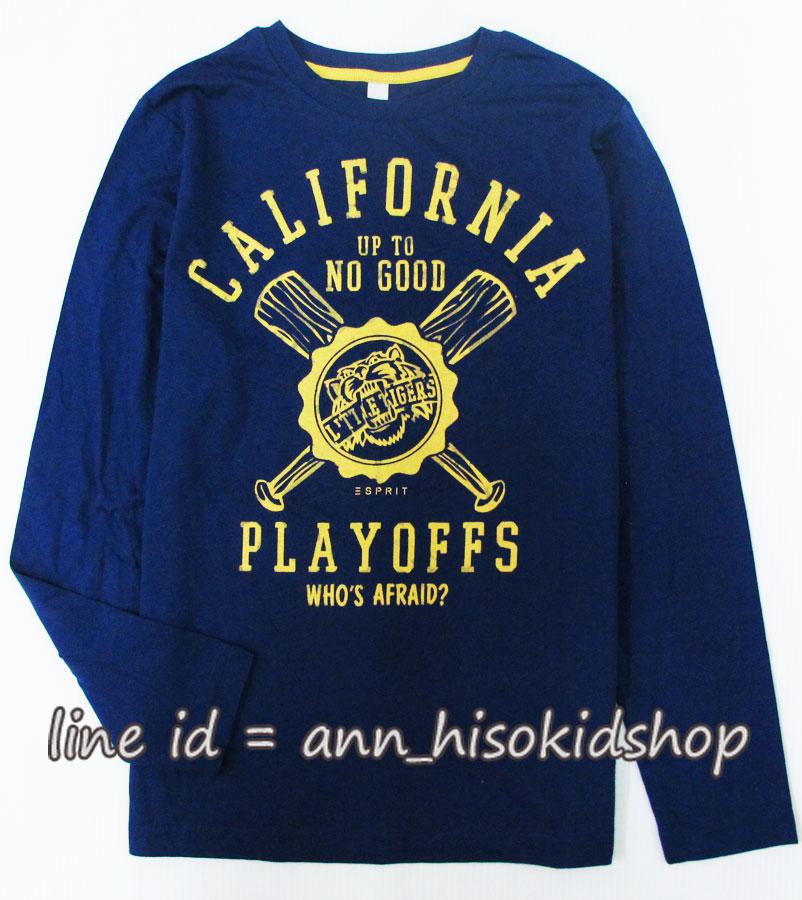 1986 ESPRIT T-Shirt - Navy Blue ขนาด 12-13,14-15 ปี (ส่งฟรี ลทบ.)