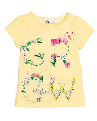 1251 H&M T-Shirt - Yellow ขนาด 4-6,6-8 ปี