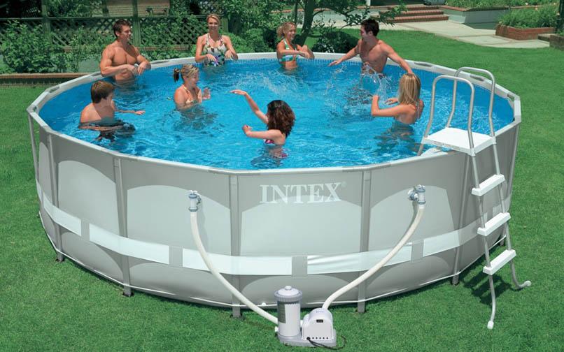 INTEX สระอัลทร้าเฟรม 16 ฟุต(488x122 ซม.) เครื่องกรองน้ำระบบไส้กรอง