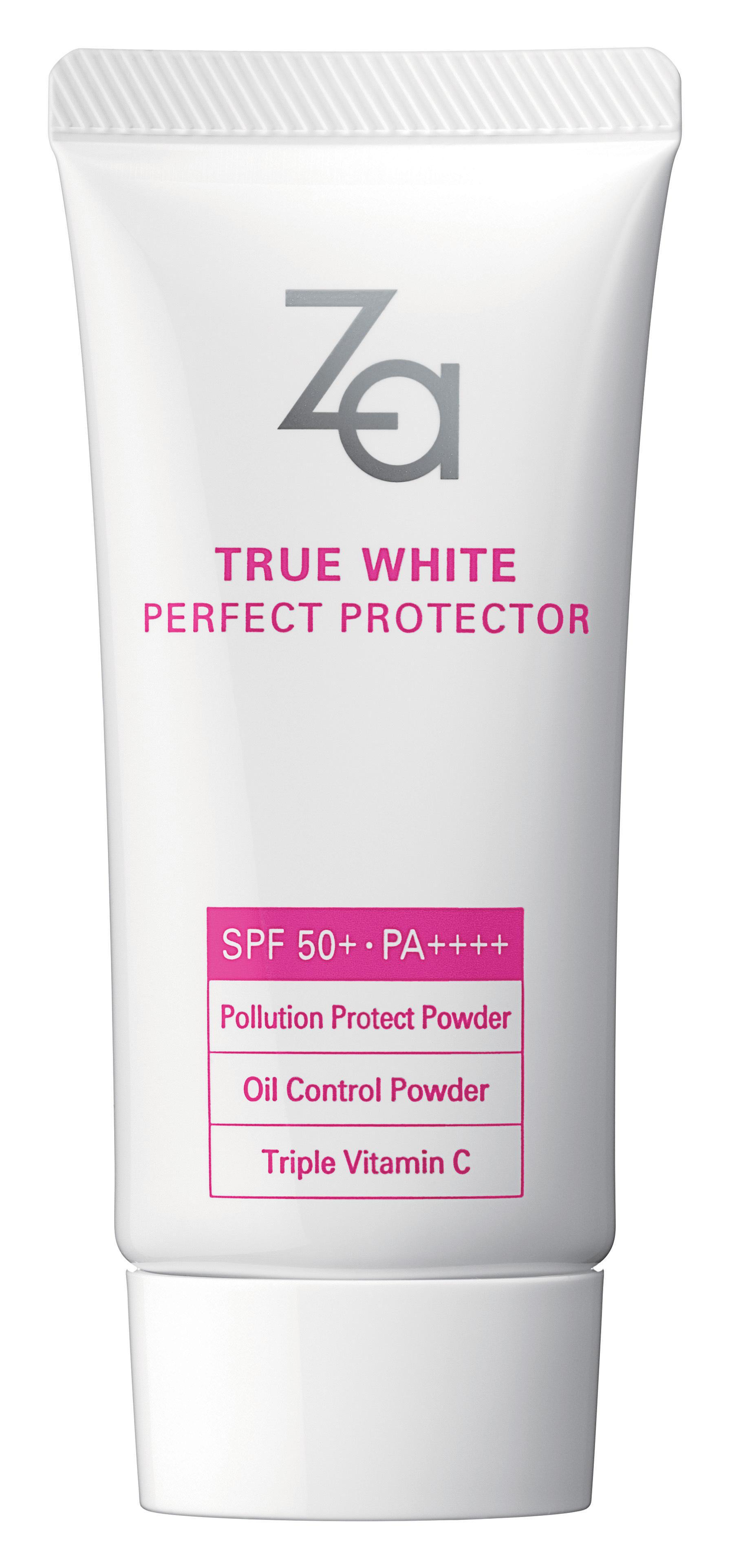 Za true white Perfect protecter ปกป้องผิวจากแสงแดดได้ดีเยี่ยม