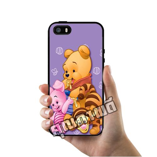 เคส ซัมซุง iPhone 5 5s SE หมีพูห์ ใส่ชุดทิกเกอร์ เคสน่ารักๆ เคสโทรศัพท์ เคสมือถือ #1247
