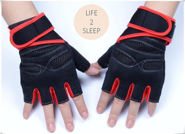 ถุงมือฟิตเนส แบบมืออาชีพ สีส้ม ไซส์ XL