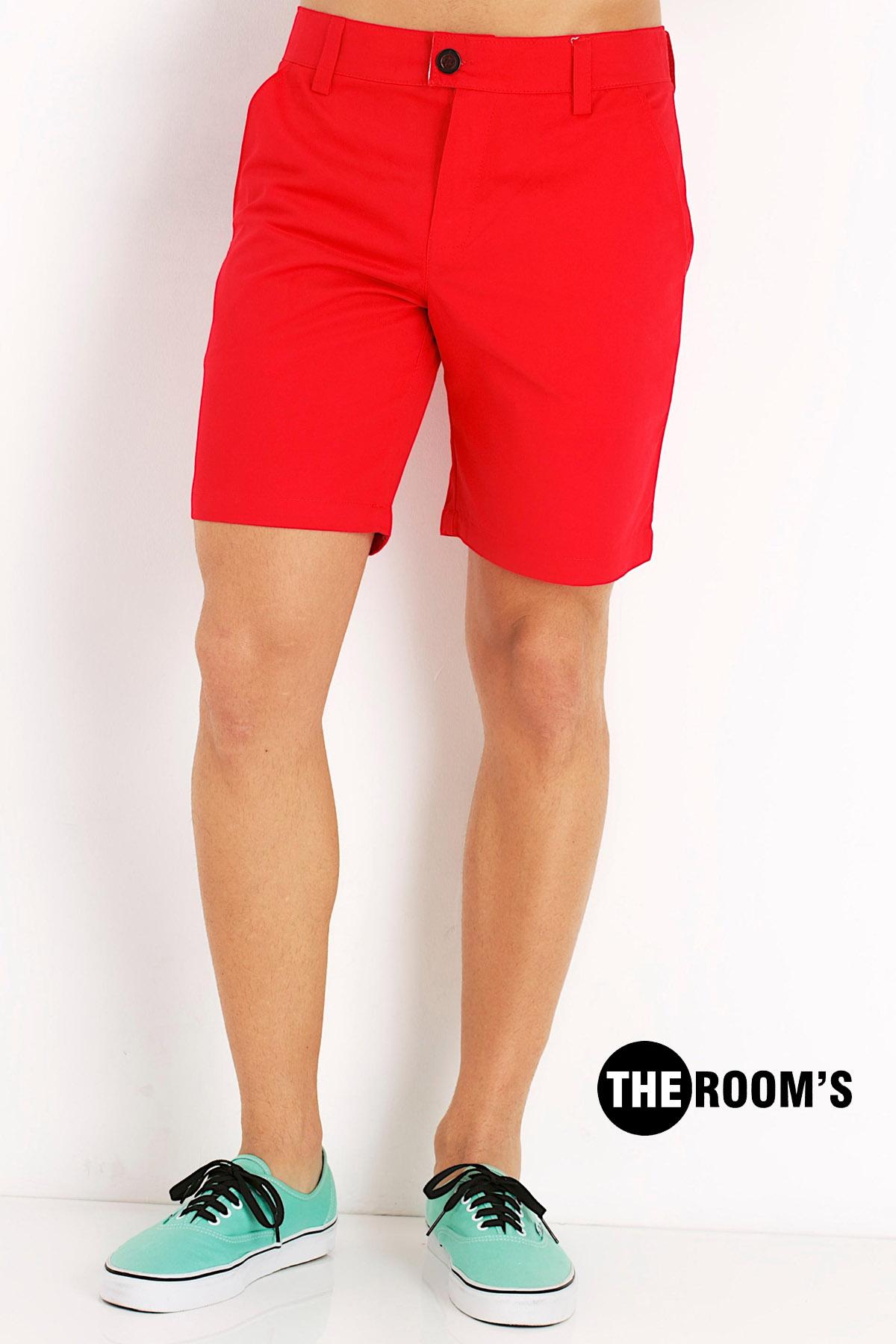กางเกงขาสั้น สีโอรส