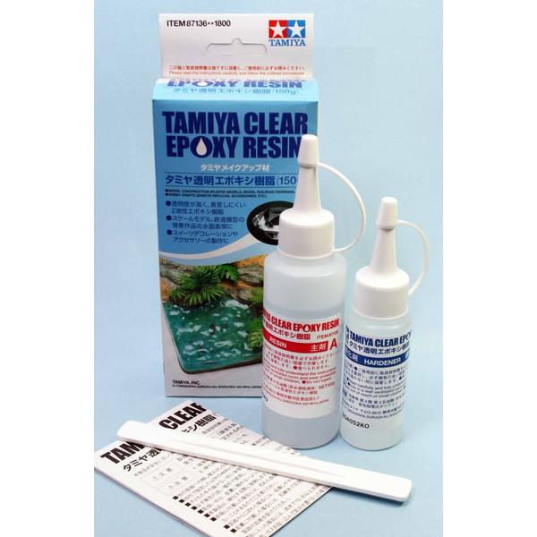 (เหลือ 1 ชิ้น รอเมล์ฉบับที่2 ยืนยัน ก่อนโอน) 87136 tamiya clear epoxy resin (150 g.)