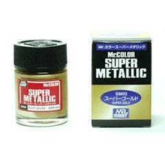 (เหลือ 1 ชิ้น รอเมล์ฉบับที่2 ยืนยัน ก่อนโอน) mr.super metallic sm02 gold 18ml.
