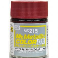 GX-215 Mr.metalic GX bloody red 18ml.