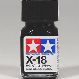 80018 Enamel X18 semi gloss black
