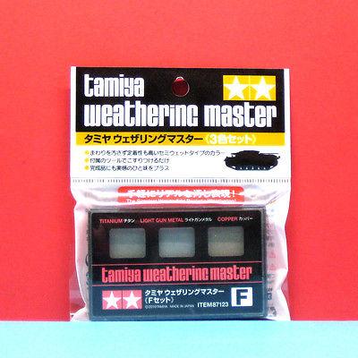 Weathering Master F Set (F titanium / light gun metal / copper)