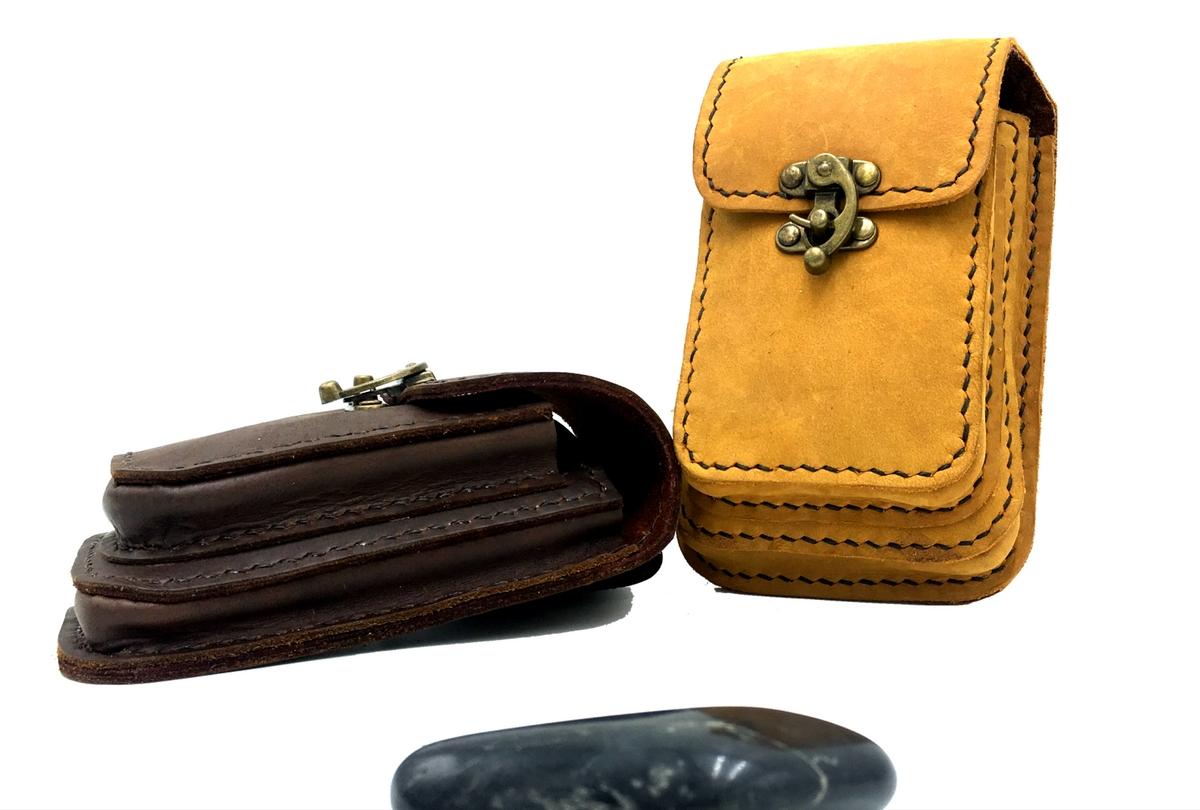 กระเป๋าร้อยเข็มขัด สำหรับใส่โทรศัพท์หรืออุปกรณ์ต่างๆ หนังแท้ นุ่มปกป้องโทรศัพท์ของคุณ