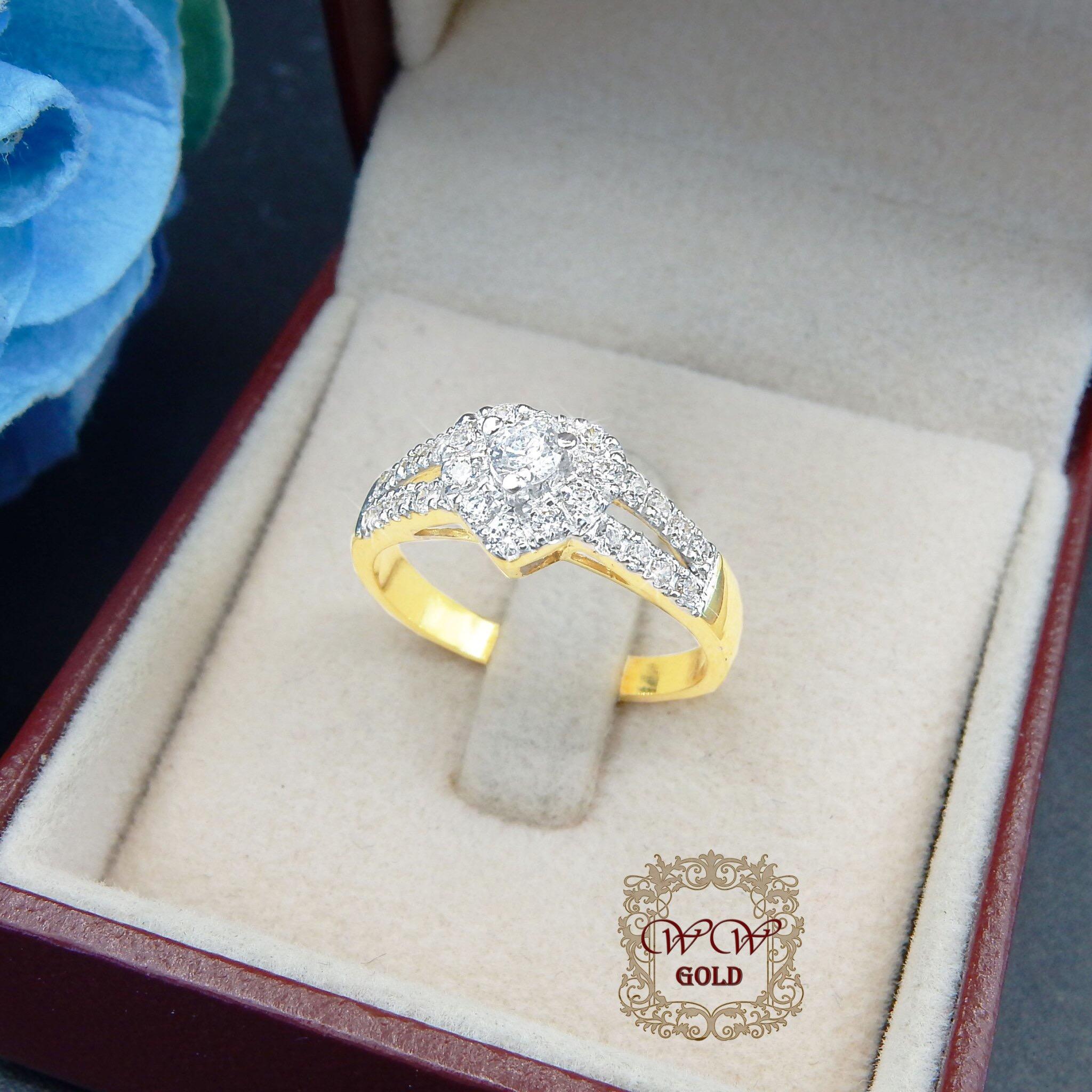 แหวนเพชรดีไซน์หัวใจ