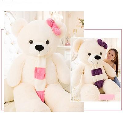 ตุ๊กตาหมีผูกผ้าพันคอ ขนาด 1.3 m.
