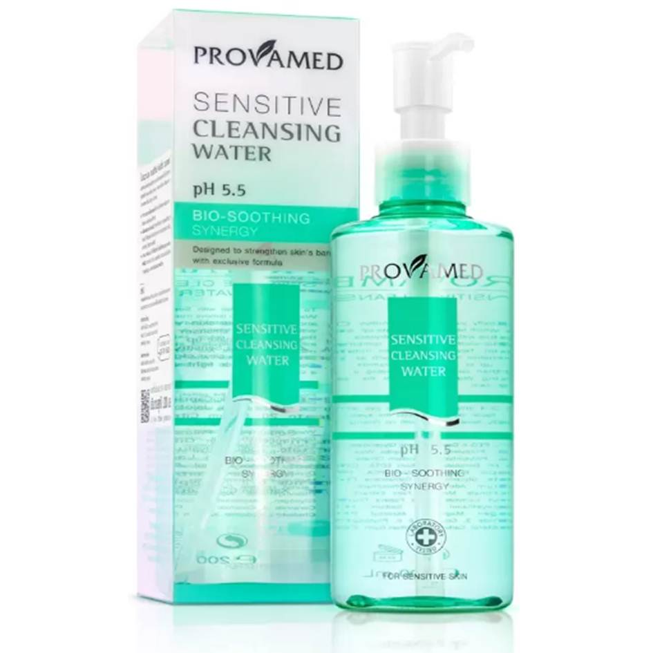 Provamed Sensitive Cleansing Water 200ml คลียซิ่งสำหรับผิวแพ้ง่าย