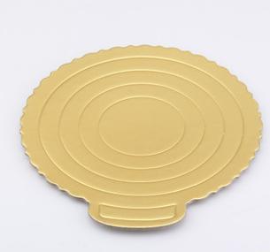 กระดาษรองเค้ก 6 นิ้ว สีทอง อย่างหนา 5 แผ่น BAKE173