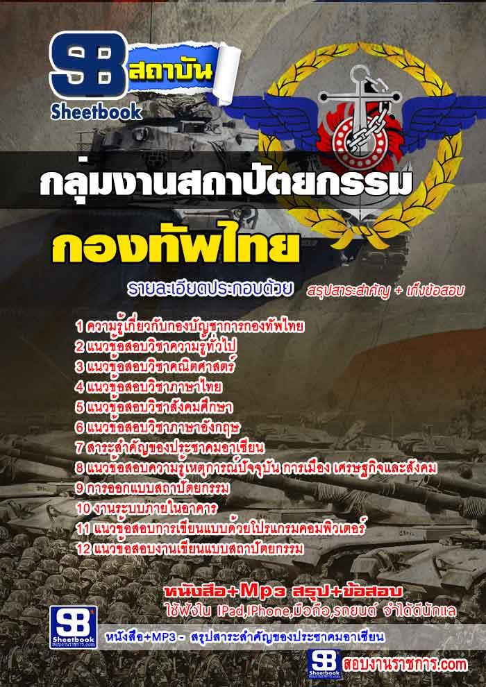 แนวข้อสอบกองบัญชาการกองทัพไทย กลุ่มงานสถาปัตยกรรม อัพเดทใหม่