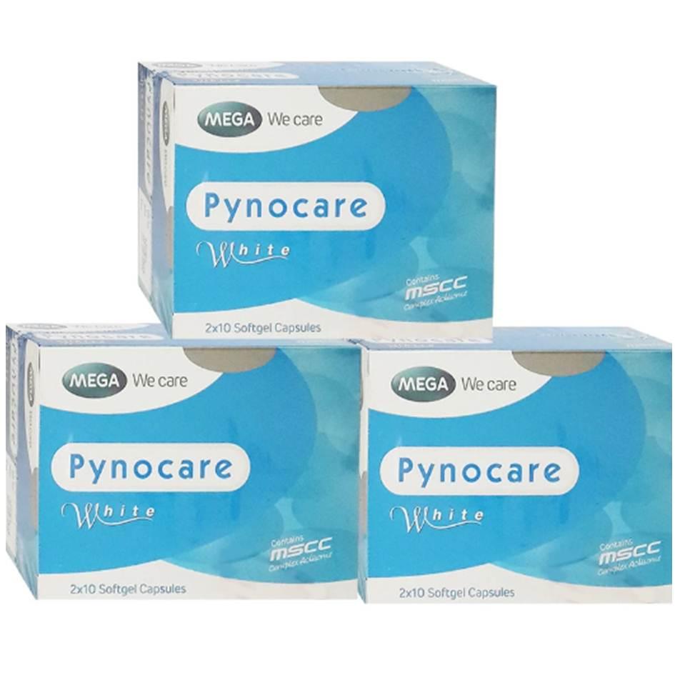 Mega We Care Pynocare White 20 เม็ด(3 กล่อง) สารสกัดจากเปลือกสน
