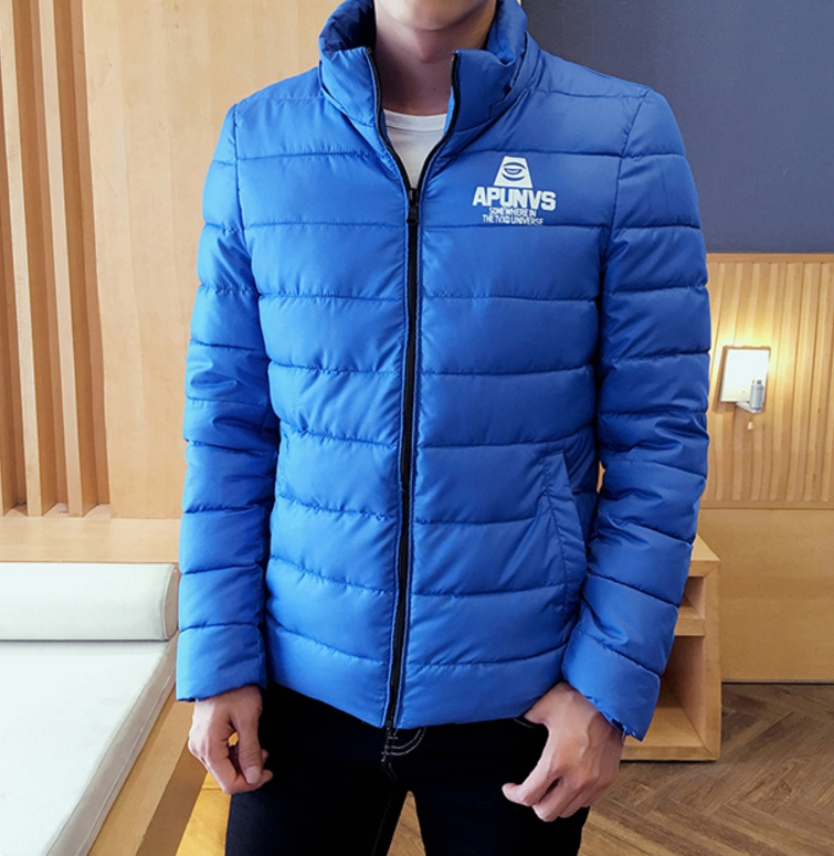 Clear special young men cotton jacket (สีน้ำเงิน)