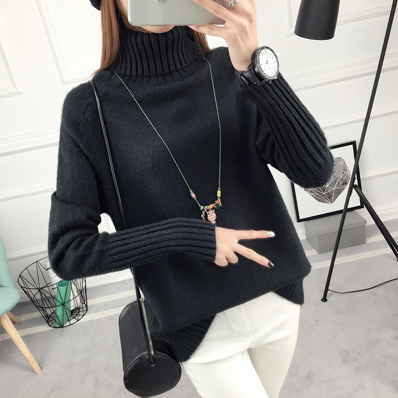 SUMIYA women sweater กันหนาว คุณภาพดี (สีดำ)